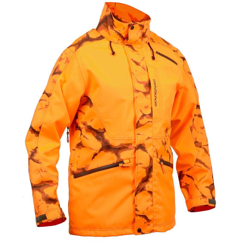REFLEXNÍ OBLEČENÍ NA HON A NAHÁŇKU Myslivost a lovectví - BUNDA SUPERTRACK 500 W SOLOGNAC - Myslivecké oblečení