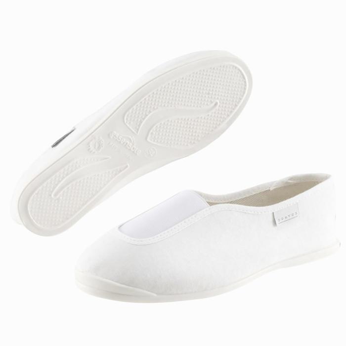Chaussons de gym adulte blanc Rythm 300.