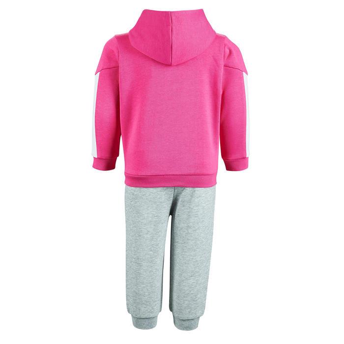 Survêtement Puma bébé fille rose et gris