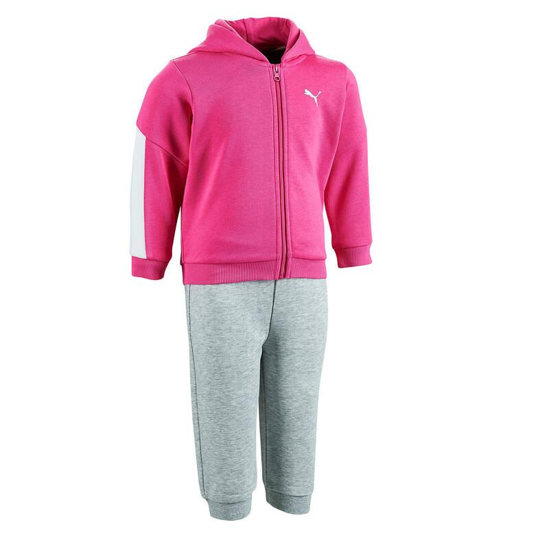 OBLEČENÍ CVIČENÍ PRO NEJMENŠÍ Cvičení pro děti - DĚTSKÁ SOUPRAVA RŮŽOVÁ PUMA - Oblečení pro děti od 1 do 6 let