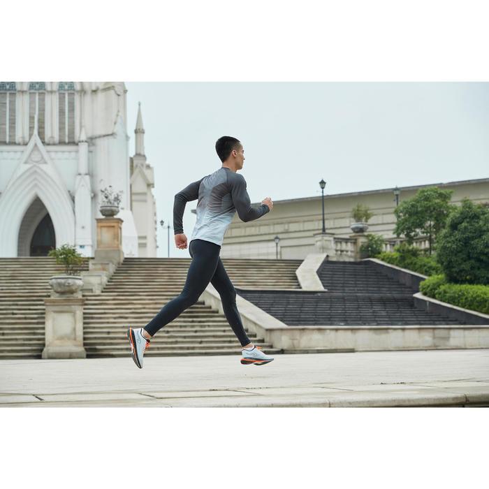 KIPRUN CARE MEN'S LONG-SLEEVED RUNNING T-SHIRT - GREY