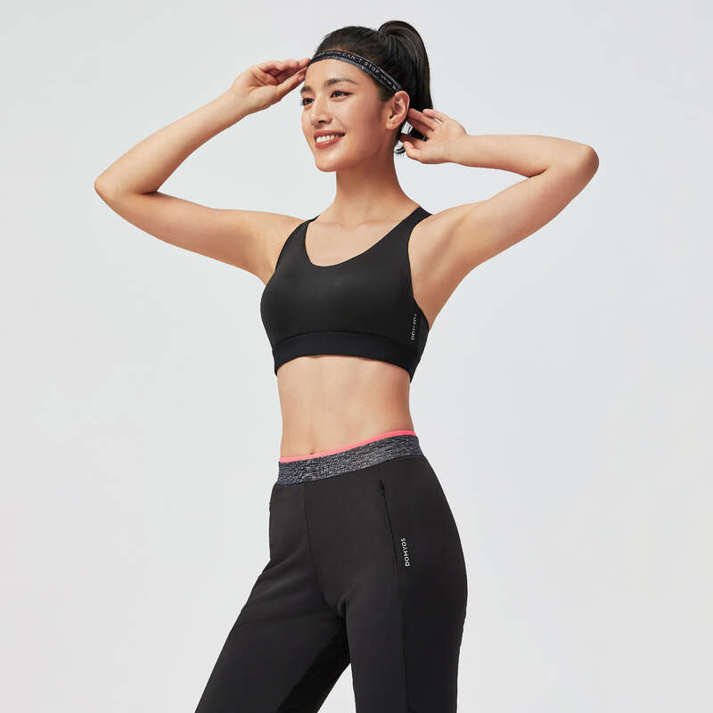 FİTNESS KARDİYO SÜTYENLERİ Pilates, Yoga - SPORCU SÜTYENİ FBRA900 DOMYOS - Kadın Pilates Kıyafetleri