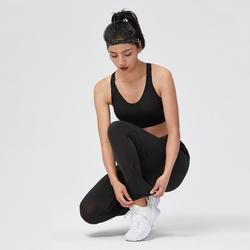 女款有氧健身訓練運動內衣900 - 黑色