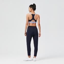 Fitness Carrot-Cut Jogging Bottoms - Navy Blue