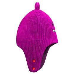 Bonnet de ski / luge bébé warm rose et violet
