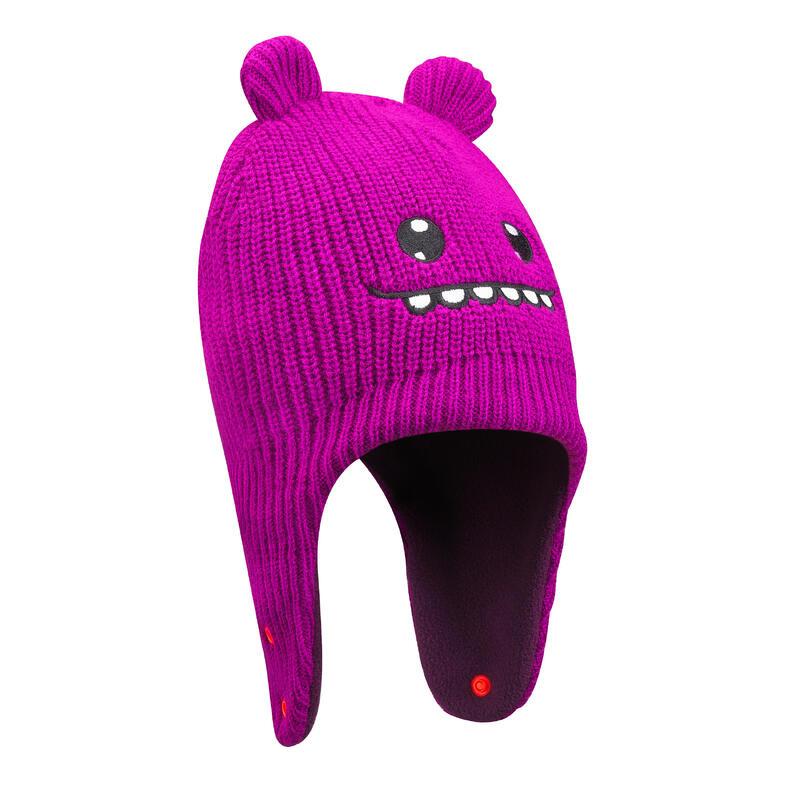 Bonnet bébé de ski / luge WARM rose et violet