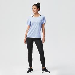 Women's Cardio Fitness T-Shirt 500 - Mauve