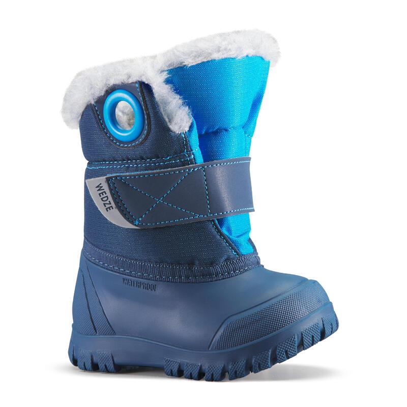 Après ski bébé, Bottes de neige bébé XWARM bleues