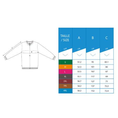 Men's golf V-neck pullover MW500 grey