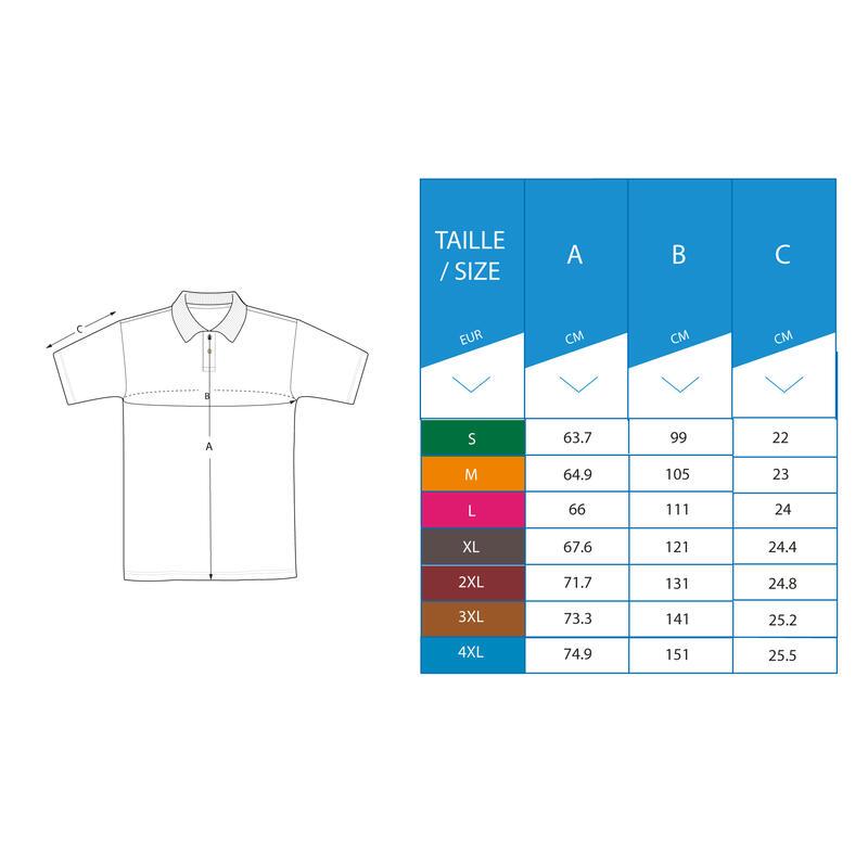 Men's golf short-sleeved polo shirt MW500 red