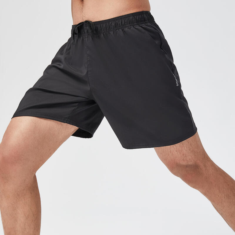 กางเกงขาสั้นสำหรับการออกกำลังกายแบบคาร์ดิโอรุ่น FST 100 (สีดำ)