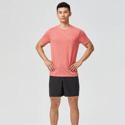 T-shirt technique Fitness rouge clair chiné