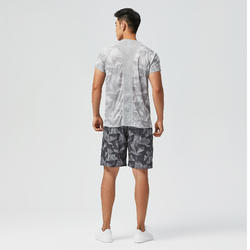 T-Shirt FTS 120 - Mottled Grey Print
