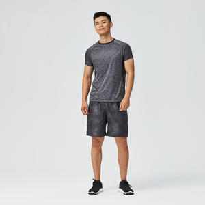 Men's Occasional Fitness T-Shirt - Dark Blue Camo