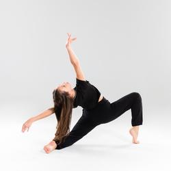 Pantalon danse moderne noir modulable à graphisme fille