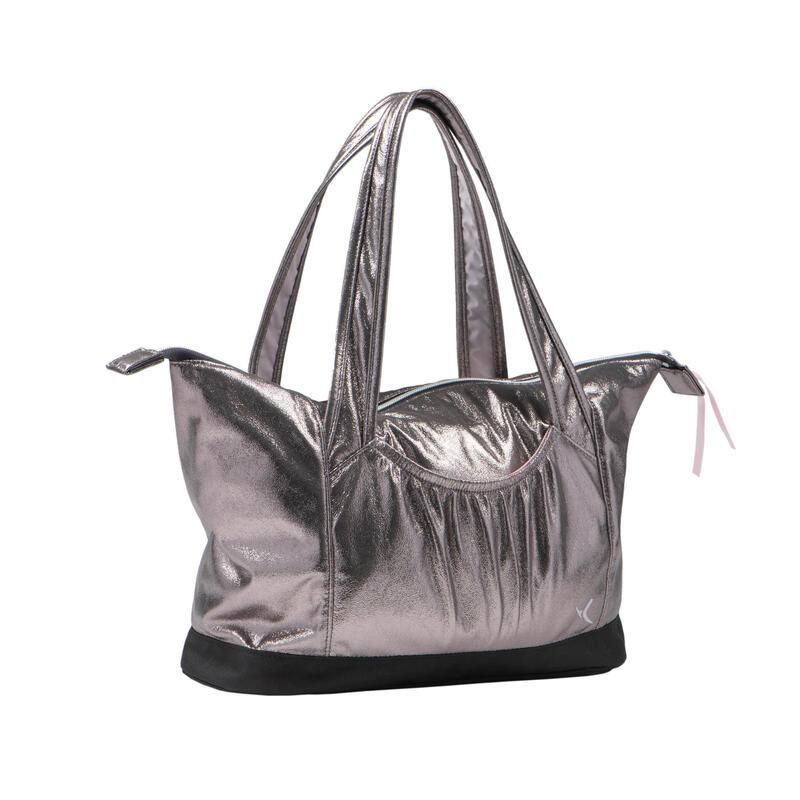 Dívčí taška na tanec šedá