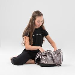 Tas voor dans meisjes grijs met glitters