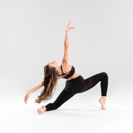 Modern Dance Crop Top With Cross-Over Straps Black - Girls