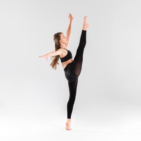 Slim-Fit Modern Dance Shorts Black - Girls