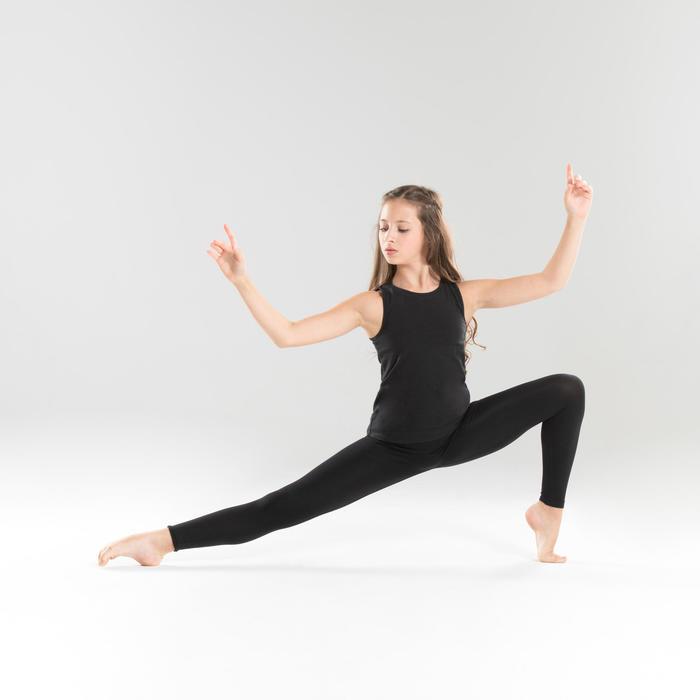 Legging danse moderne noir sans coutures fille