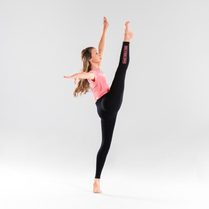 Legging danse moderne noir taille haute fille