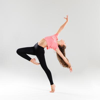 Girls' Flowing Modern Dance T-Shirt - Pink
