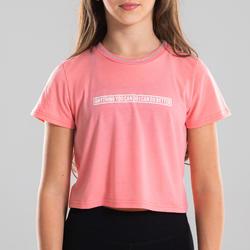 Soepel T-shirt voor moderne dans meisjes lichtroze