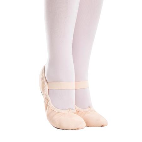 Canvas Full-Sole Demi-Pointe Ballet Shoes