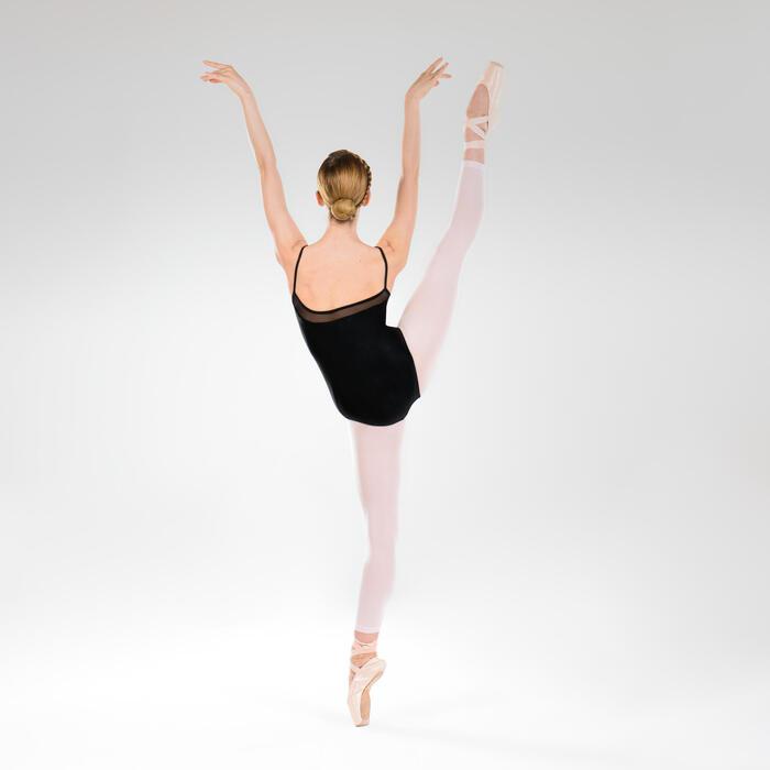 Tanzbody Ballett mit schmalen Trägern Mädchen schwarz