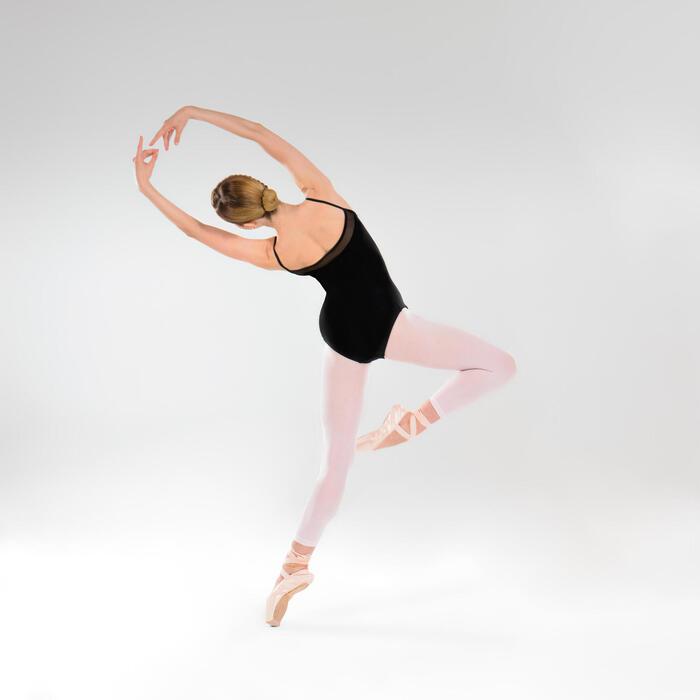 Maillot zonder voet voor ballet en moderne dans meisjes roze