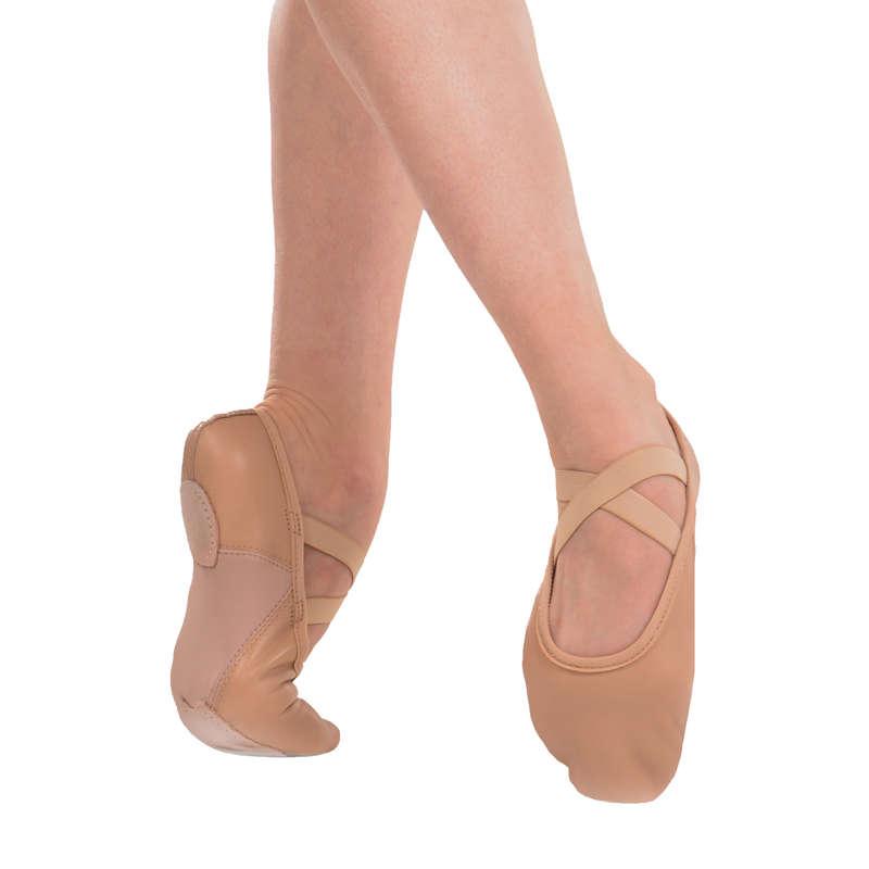 SKOR FÖR KLASSISK BALETT Danser, Balett - Tekniksko delad sula läder DOMYOS - Danser, Balett