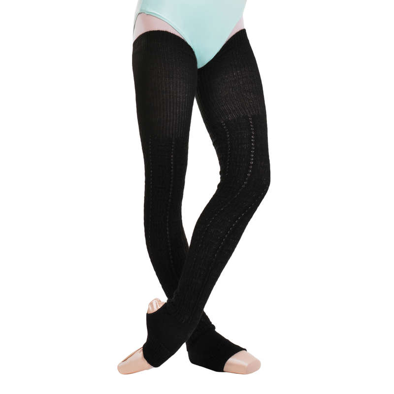 BALLET DANCE TIGHTS, ACCESSORIES Ballet - Women's Long Leg Warmers Black DOMYOS - Ballet