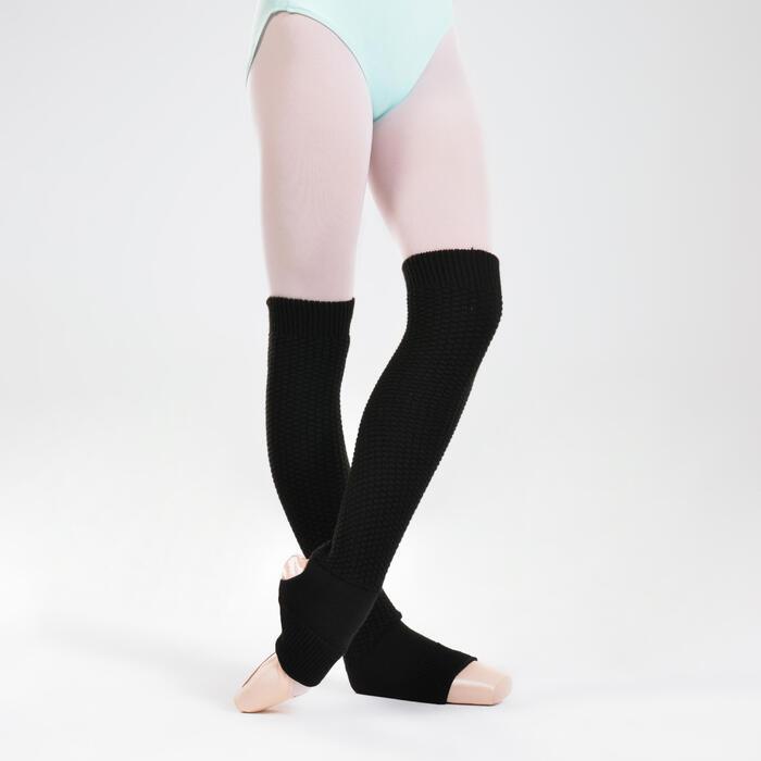 Guêtres de danse cheville & cou-de-pied noires femme