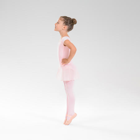 Jupette de danse classique en voile rose – Filles