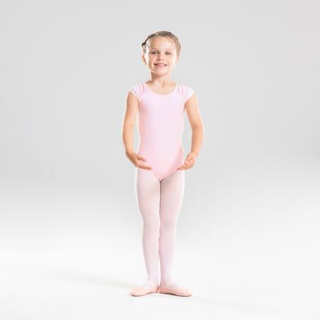 Léotard de danse classique à manches courtes rose – Filles