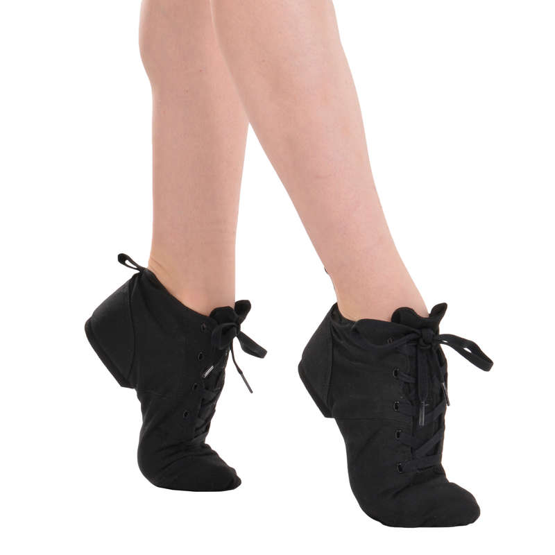MODERN JAZZ DANCE SHOES Street Dance and Urban Dance - Canvas Modern Dance Boots DOMYOS - Sports