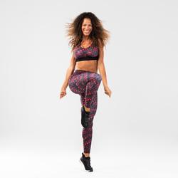 Sport-BH Bustier Fitness Dance Damen rot bedruckt