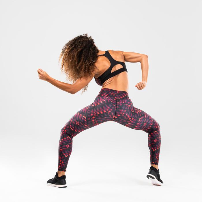 Brassière danse fitness rouge à imprimé femme