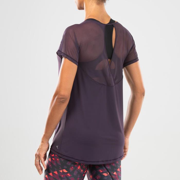 T-shirt danse fitness violet femme