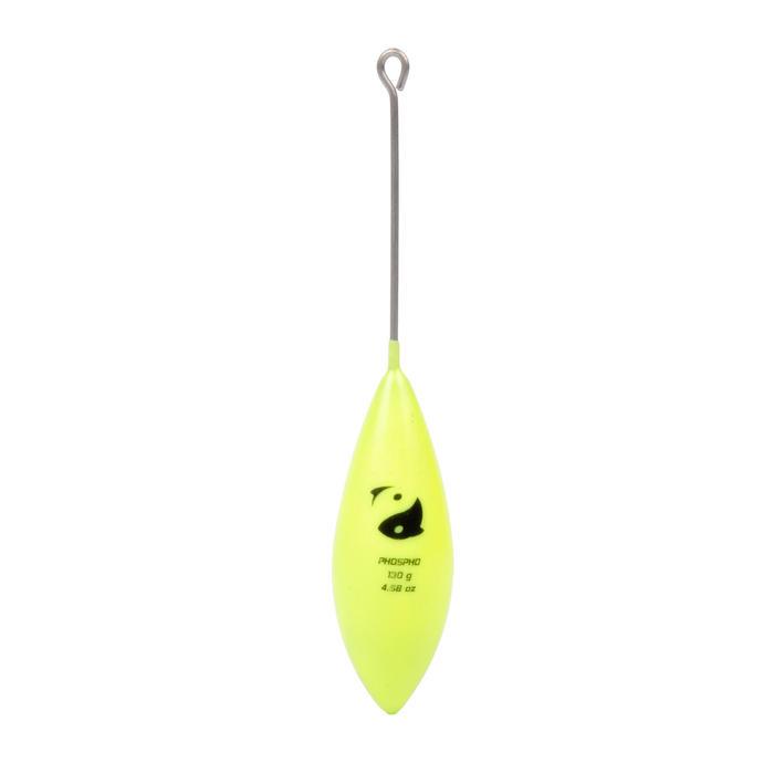 Plomb de pêche en surfcasting bombé tige jaune phosphorescent x2