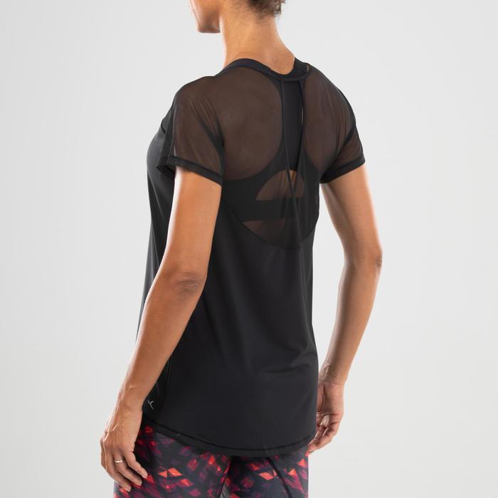 T-shirt danse fitness noir femme