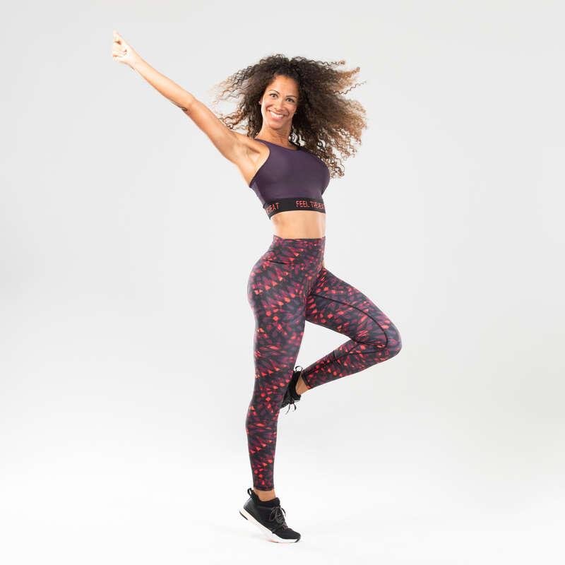 Női fitnesztánc ruházat Fitnesz - Női top fitnesztánchoz, lila DOMYOS - Fitnesz