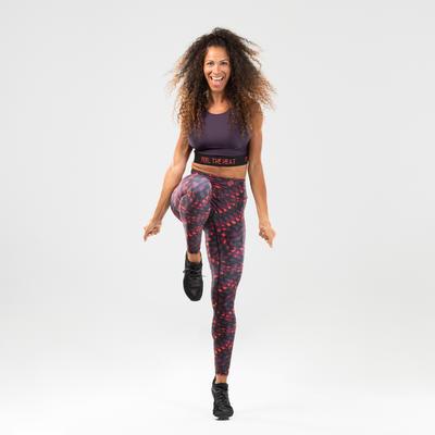 Crop top danse fitness violet femme