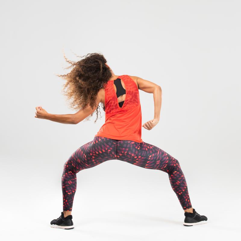 Débardeur danse fitness rouge femme