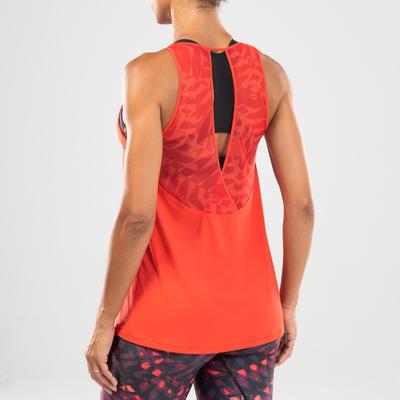 Women's Fitness Dance Tank Top - Red