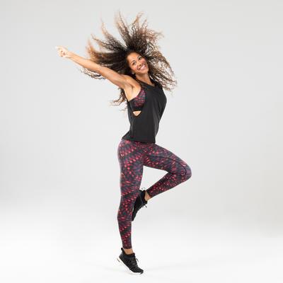 Débardeur danse fitness noir ajouré femme