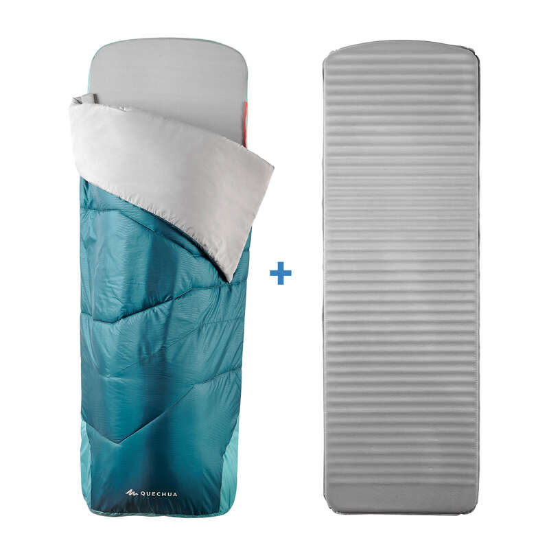 PRAZNO Kampiranje - Spalna vreča z blazino MH500 QUECHUA - Oprema za spanje