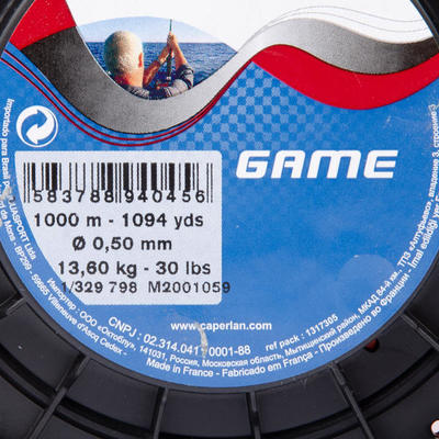 Fil de pêche à la traine Game 1000m