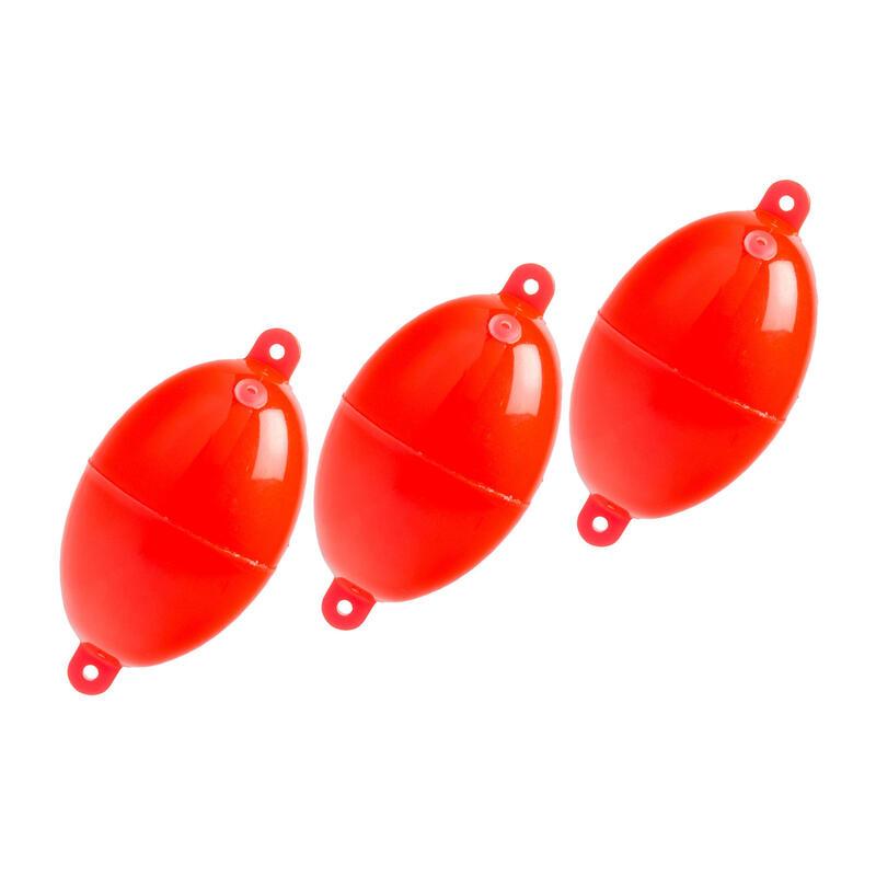 Oval Buldo N°4 x3 sea fishing bubble float red