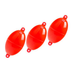 Buldo ovale N°4 rouge x3 pêche en mer